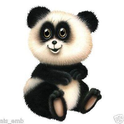 Panda Cub Teddy Bear HEAT PRESS TRANSFER for T Shirt Tote Sweatshirt Fabric 226a