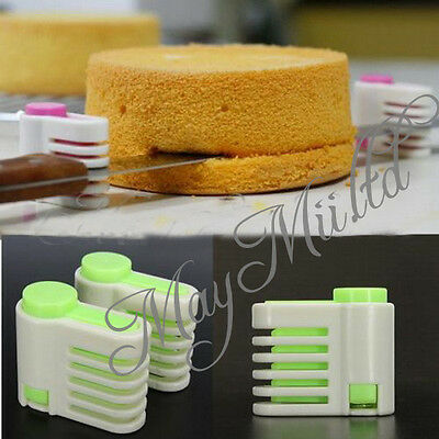 5 Layers Kitchen DIY Cake Bread Cutter Leveler Slicer Cutting Fixator Tools M