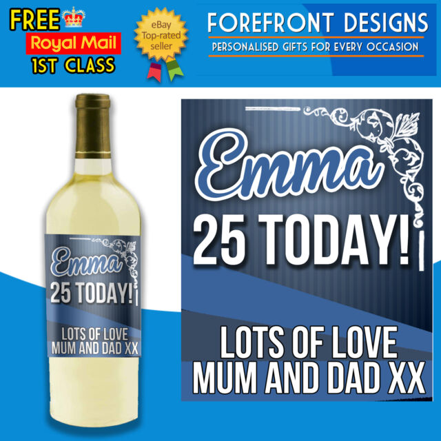 Personalised Funky Wine Bottle Label, Perfect Birthday Gift 18th,21st,30th,40th