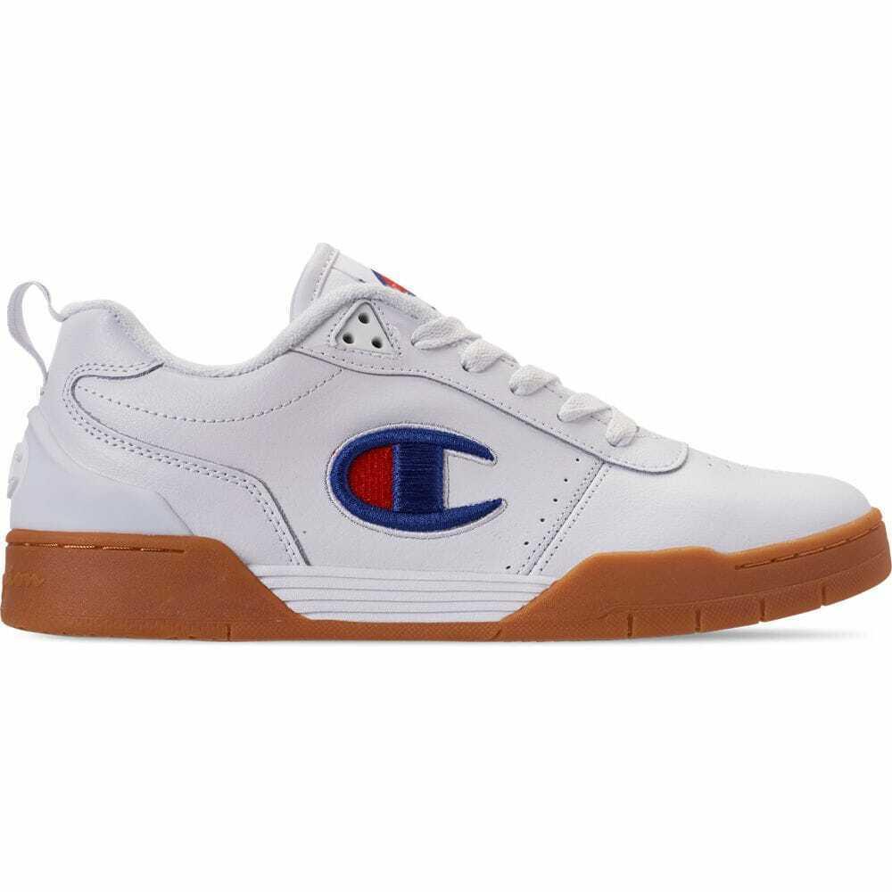 Para Hombres Zapatos informales Champion Court Clásico blancoo Gum CMS10009 001