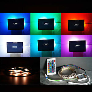 tv rgb led usb 1m fernseher backlight hintergrund beleuchtung samsung sony lg ebay. Black Bedroom Furniture Sets. Home Design Ideas
