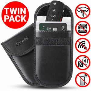 Keyless-Entry-Car-Key-Fob-Signal-Blocker-Guard-Protector-Faraday-Bag-Pouch-Black