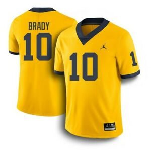 promo code fdcdd 60bb4 Details about TOM BRADY MICHIGAN WOLVERINES COLLEGE FOOTBALL JERSEY |  JORDAN | #10 | *SIZE: L*