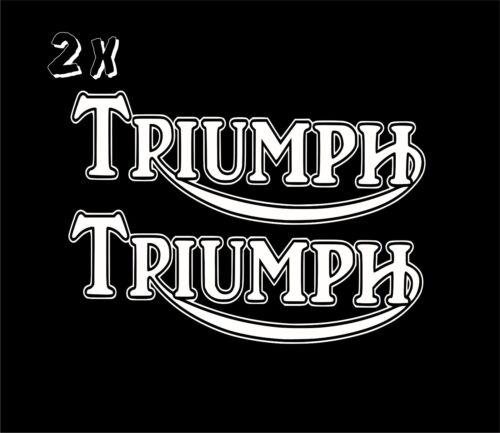 2 x  Triumph Vinyl Decal Sticker Motorbike Tank Car Van  Clssic Retro laptop
