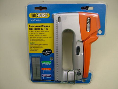 Hand manual tacker stapler 4-14mm staples nails Tacwise metal body professional