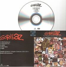 GORILLAZ the singles collection 2001-2011 CD PROMO SAMPLER france french BLUR