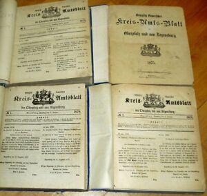 4x-Kreis-Amtsblatt-Regensburg-Oberpfalz-1874-1875-1876-1878-Chronik-alt-Neumarkt