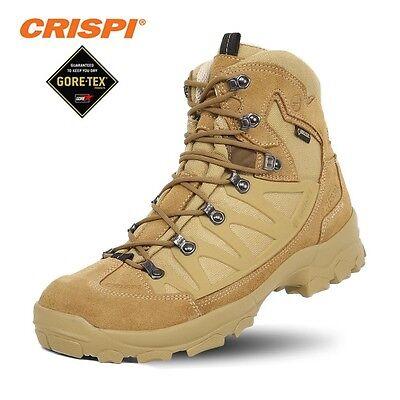 accaparramento come merce rara vasto assortimento elegante CRISPI Stealth Plus GTX Anfibi Militari GORETEX Boots Security Vera Pelle  COYOTE | eBay