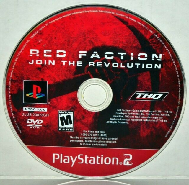 Red Faction (Sony PlayStation 2, 2002) Red Faction 1 I PS2 Video Game Disc Only