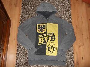 Borussia Dortmund BVB-Teddy-Parka f/ür Damen schwarz