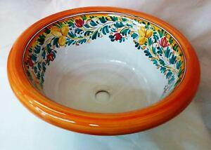 Lavandino Cucina Ceramica Incasso.Lavello Lavabo Cucina Bagno Ad Incasso D Cm 45 In Ceramica Di
