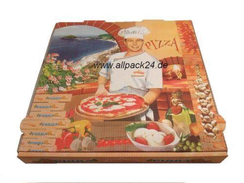 Pizzabox Salatschale allpack24 Aluschale Pizzakarton 100 Stk. 32x32x4 cm