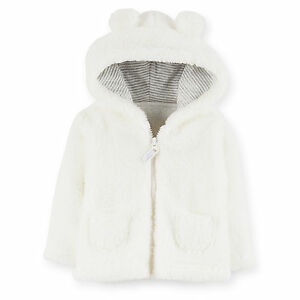 715e604b4 NWT Carters Baby boys girls Clothes Sherpa Hoodie Hooded Coat 6 9 12 ...
