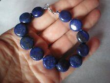 Lapis Lazuli bracelet, 134 carats, set in 0.5 grams of 925 Sterling Silver, 14mm