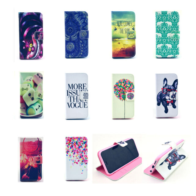 Fashion Stand Hybrid Wallet Leather Case Cover For iPhone 4S 5S 5C 6/6 Plus 5.5