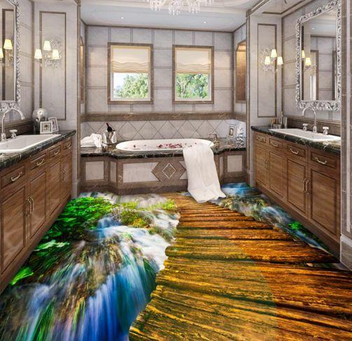 3D Winding Path Mountain Floor WallPaper Murals Wall Print Decal 5D AJ WALLPAPER