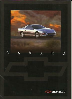 CHEVROLET CAMARO COUPE AND CONVERTIBLE MODELS USA SALES BROCHURE 1998