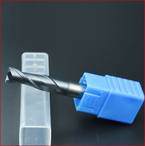 10Pcs Carbide End Mill Set 2 Flute 2.5mm Cutting Dia CNC Milling Cutter HRC45