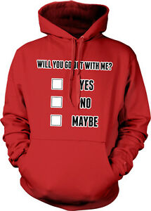 Will You Go To Prom With Me Yes No Check Box Survey Question Hoodie Sweatshirt