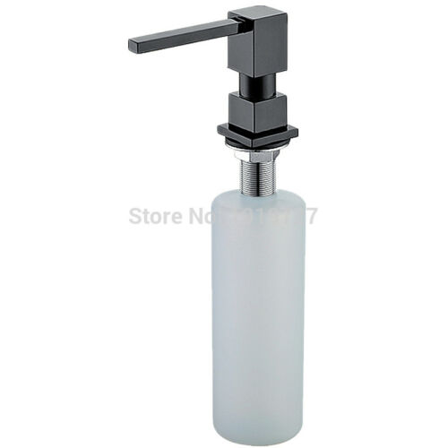 Style Pure Black//Brushed Nickel//Chrome//Gold Solid Brass Kitchen Soap Dispenser