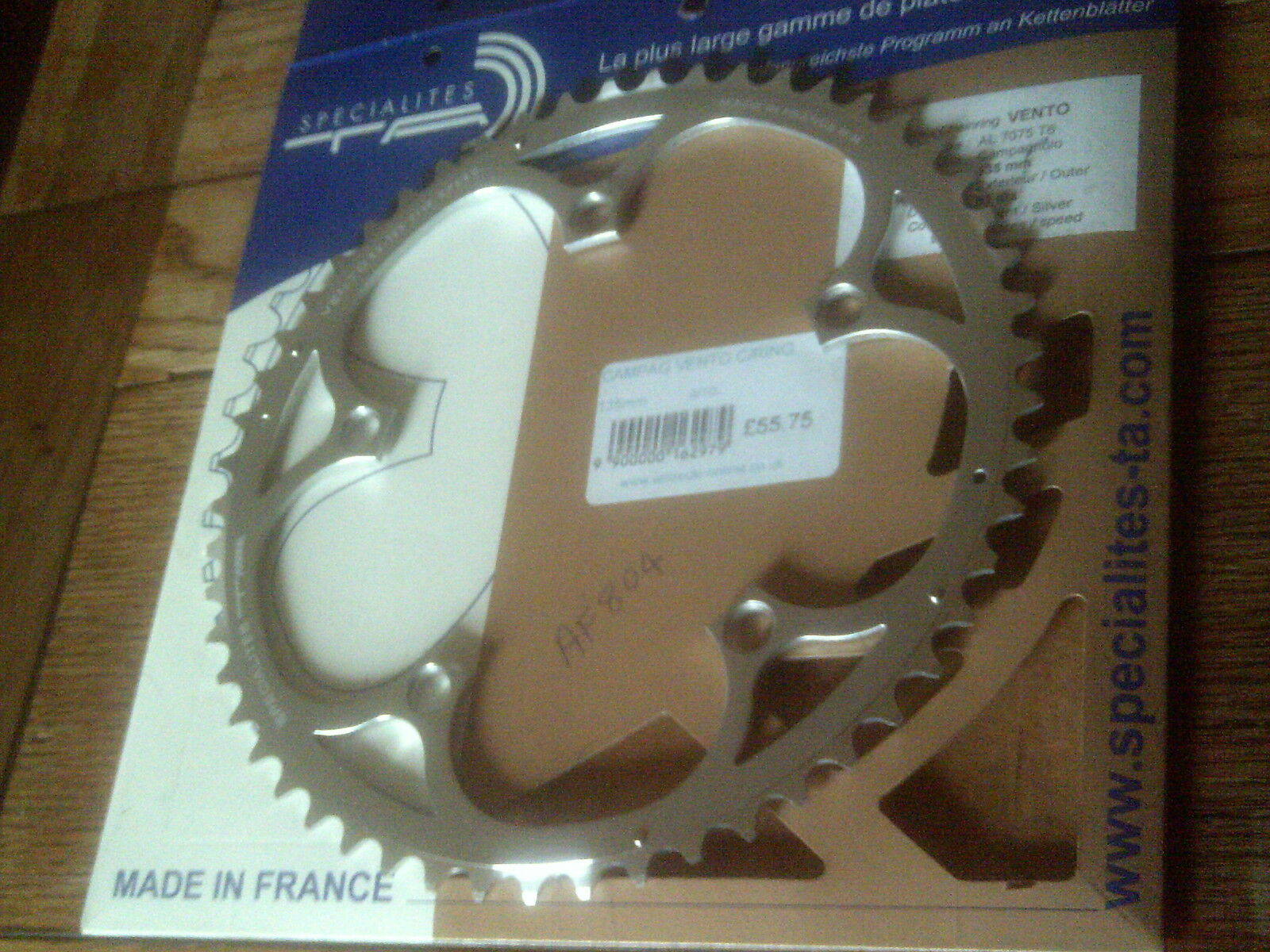 NOS 53 TOOTH 135BCD  SPECIALITES TA  9 10 SPEED VENTO  CHAINRING