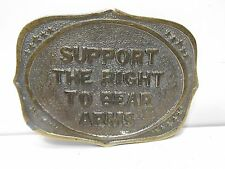 Support The Right To Bear Arms Wyoming Studio Belt Buckle James Lind 1975 G-13.