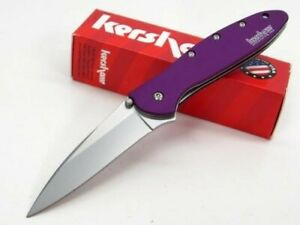 Kershaw-1660PUR-Purple-Leek-Assisted-Straight-Folding-Pocket-Folder-Knife