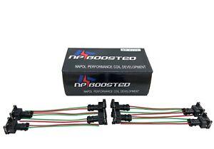 Set 8pcs For LQ4 LQ9 4.8 5.3 6.0 wire Harness LS1 LS6 LT1 EV1 Injector Adapters