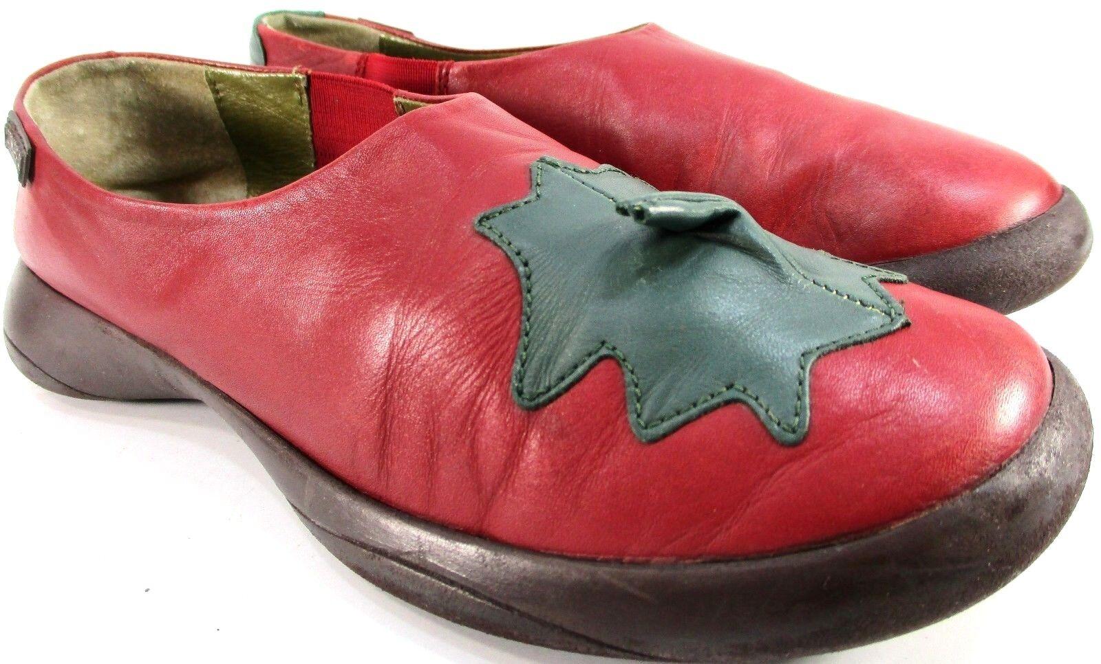 Camper mujer zapatos talla 8.5 euro 39 en en en Rojo Cuero Suela Antideslizante  venderse como panqueques
