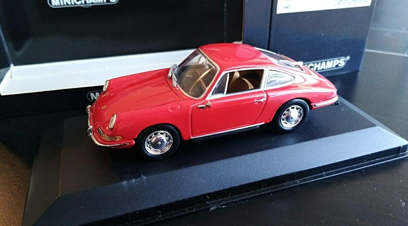 1 43 Minichamps Porsche 911 Coupe 1964 (901) 430067121 rot. Muy raro