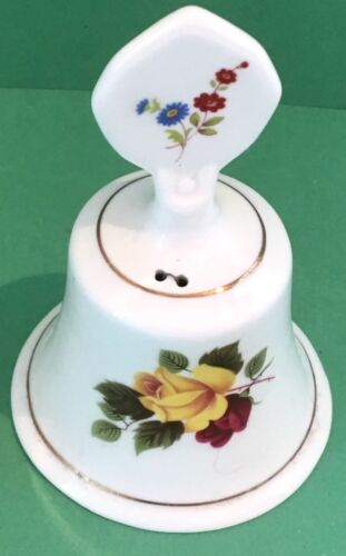 Floral Pattern high 12.4 cm 4 7//8 inches Staffordshire Bone China Bell