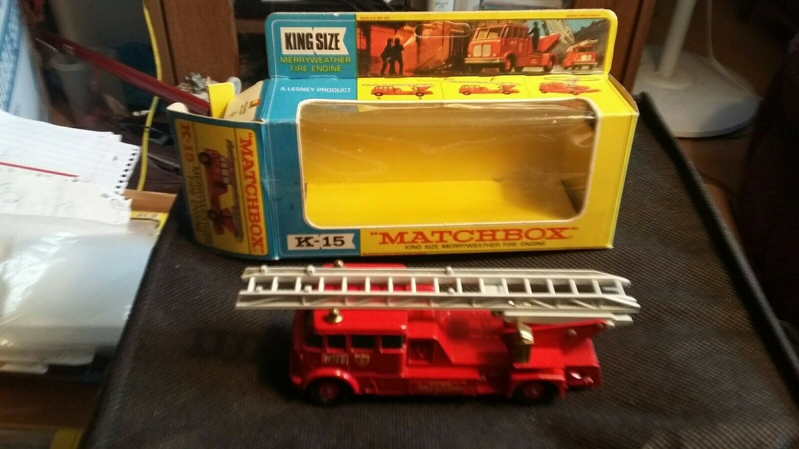 Matchbox Lesney, K15, Merryweather Fire Engine, 1 43, MIB, Outstanding