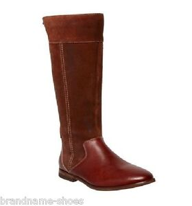 87f84c0081d NEW WOMENS HUSH PUPPIES ALCOTT LEATHER FLAT BROWN KNEE HIGH BOOTS ...