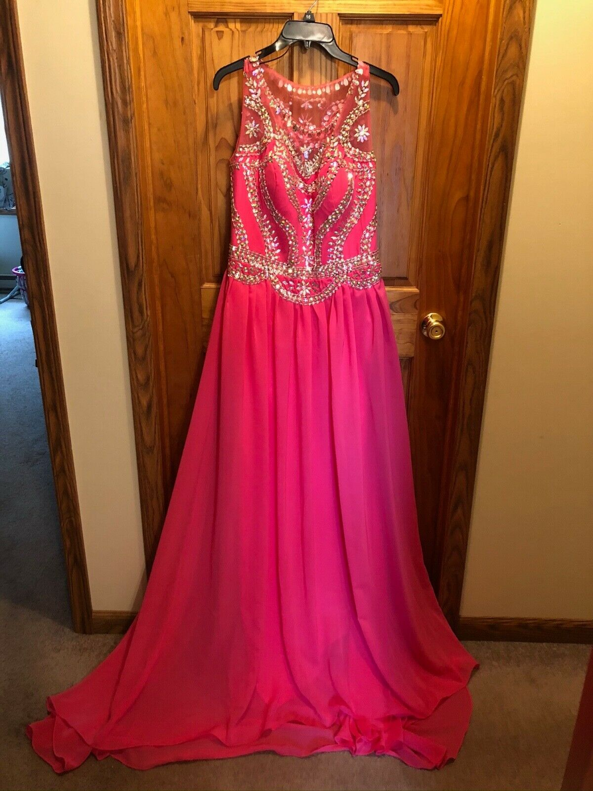 *NEW* Ada Bridal - Pink Gown w/Lots of Bling & Sparkle - Small Train - Size 16