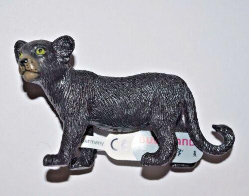 9 cm grandi con banderuole BULLYLAND sammelfiguren//Panther giovane NERO 63603 ca