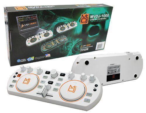 MR DJ MVDJ-1000 USB DJ CONTROLLER MIDI PLAYER WITH ILLUMINATED BUTTONS WHITE