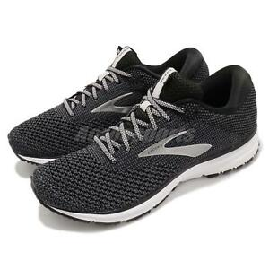 00b75334c5b77 Brooks Revel 2 Black Grey White Men Running Training Shoes Sneakers ...