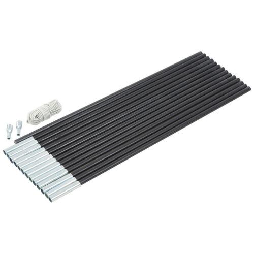 CAMPZ Glasfaser Gestänge-Set 11mm//7,0m schwarz 2020