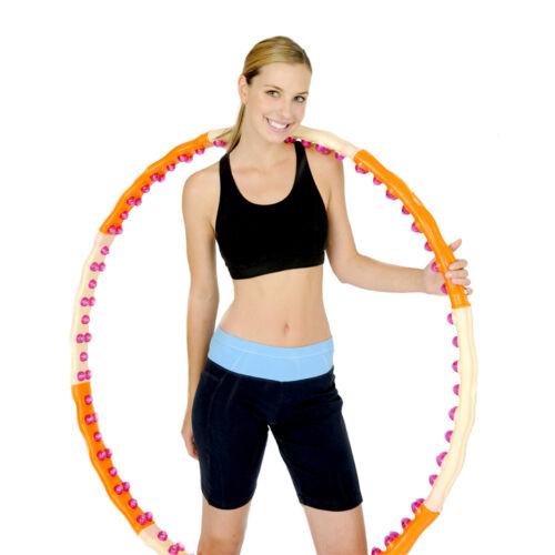 Jemimah Health Hoop 1,7kg Hula Hoop Fitness Reifen 96 Massagenoppen mit Magnete