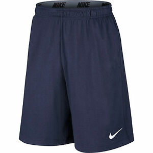 Nike-Essentials-Men-039-s-Dri-Fit-Cotton-Knit-Sports-Shorts-Gym-Beach-Navy-Blue