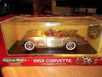 1953 Corvette in Brushed Gold with Red int. by Ertl Item # 33449M