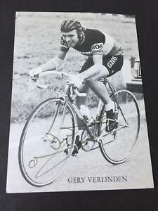 GERY VERLINDEN Tour De France Radsport signed Autogrammkarte 11x15