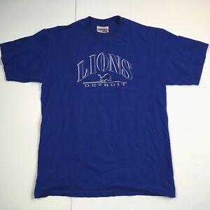 613b8d581e7cb Details about VINTAGE Detroit Lions Chalk Line Embroidered T-Shirt