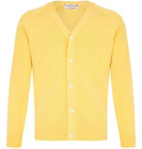 MENS PLAIN CLASSIC YELLOW CARDIGAN JUMPER FITTED BUTTON UP VNECK ...