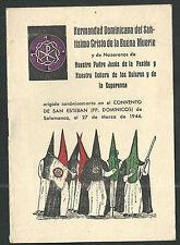 Programa antiguo Semana Santa de Salamanca andachtsbild santino holy card