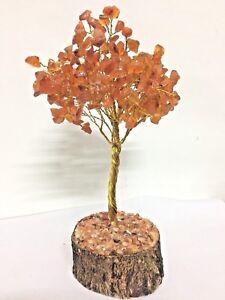 Carnelian-Reiki-Healing-Stones-Tree-Table-Decor-Spiritual-Feng-Shui-Freeship