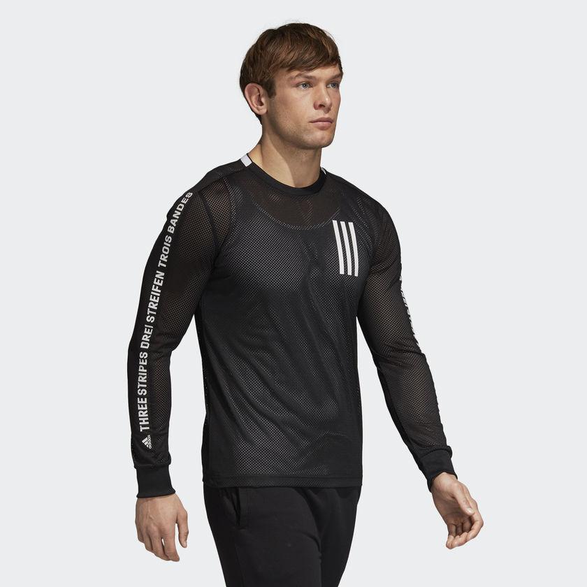 Adidas Sport ID 3-Stripes Tee (CZ5757) Running Swimming Beach Mesh T-Shirt Top