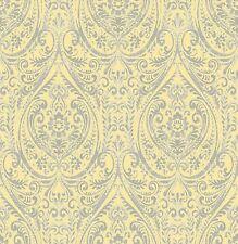 BHF SZ001868 Kismet Wander Yellow Damask Wallpaper