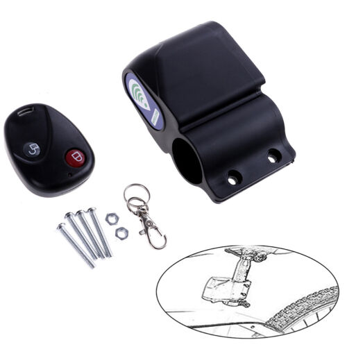 New Cycling Bicycle Bike 9V Alarm Anti-theft Lock With Wireless Remote Cont ZL