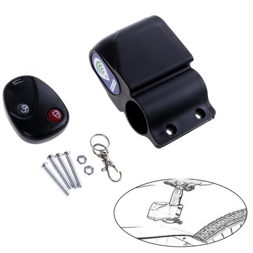 New Cycling Bicycle Bike 9V Alarm Anti-theft Lock With Wireless Remote ControFT